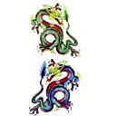 abordables Adhesivos de Pared-1 pcs Tatuajes Adhesivos Los tatuajes temporales Series de Animal Impermeable Artes de cuerpo / Modelo / Parte Lumbar / Waterproof