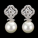 cheap Modules-Women's Drop Earrings - Pearl, Cubic Zirconia Classic Silver For Party