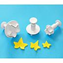 baratos Artigos de Forno-quatro c cortador bolo fondant folha de hera plástico decoração êmbolo, ferramentas fondant clássicos, ferramentas bolo