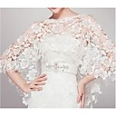 cheap Wedding Wraps-Sleeveless Lace Wedding / Party Evening Wedding  Wraps With Lace Capelets
