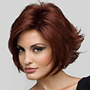 cheap Synthetic Capless Wigs-Synthetic Wig Women's Straight / Curly Red Layered Haircut Synthetic Hair 8 inch Natural Hairline Red Wig Short Capless Red Wine