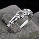 tanie Modne pierścionki-Damskie Band Ring Silver Srebro standardowe Srebrny Nieskończoność Miłość Modny Ślub Impreza Prezent Codzienny Cicha sympatia Biżuteria