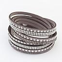 cheap Bracelets-Women's Long Wrap Bracelet - Rhinestone European, Fashion Bracelet Red / Green / Blue For Daily