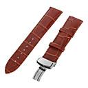 hesapli Saat Aksesuarları-Gerçek Deri Watch Band kayış Siyah 213 2cm / 0.8 İnç