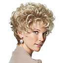 cheap Synthetic Capless Wigs-Synthetic Wig With Bangs Synthetic Hair With Bangs Blonde Wig Women's Short