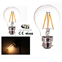 cheap LED Bulbs-B22 LED Filament Bulbs A60(A19) 4 COB 400lm Warm White 2800-3200K Dimmable AC 220-240 AC 110-130V