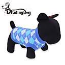 abordables Ropa para Perro-Gato / Perro Camiseta Ropa para Perro Ajedrez Rojo / Azul Algodón Disfraz Para mascotas