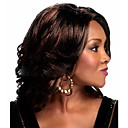 cheap Synthetic Capless Wigs-Synthetic Wig Curly / Natural Wave Brown Asymmetrical Brownish Black Synthetic Hair 10 inch Women's Natural Hairline Brown Wig Medium Length / Long Capless