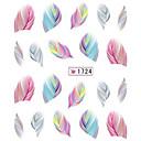 billige Dekaler-1 pcs 3D Negle Stickers Vandoverførings klistermærke Negle kunst Manicure Pedicure Smuk Tegneserie / Mode Daglig / 3D Nail Stickers