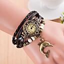 cheap Women's Watches-Women's Quartz Wrist Watch Casual Watch Leather Band Charm Black