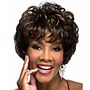 cheap Synthetic Capless Wigs-the new middle aged black mixed color brown short hair wig