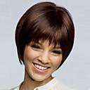 お買い得  人工毛ウィッグ-人工毛ウィッグ ストレート アシメントリー・ヘアカット 合成 ナチュラルヘアライン ブラウン かつら 女性用 ショート キャップレス Brown