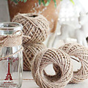 cheap Rhinestone & Decorations-Solid Color Jute Wedding Ribbons Piece/Set Weaving Ribbon Gift Bow Decorate favor holder Decorate gift box Decorate wedding scene