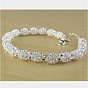 זול צמיד אופנתי-שרשרת וצמידים - נשים, עיצוב מיוחד, מסיבה, אופנתי צמידים תכשיטים כסף עבור Party מתנה אָהוּב