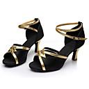 hesapli Latin Dans Ayakkabıları-Kadın's Latin Dans Ayakkabıları İpek Sandaletler / Spor Ayakkabı Toka / Kurdele Bağcık Kişiye Özel Kişiselleştirilmiş Dans Ayakkabıları