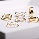 olcso Divatos gyűrű-Női Egymásra rakható Ékszer készlet / Gyűrűk készlet - Ötvözet Križ, Szerelem Európai, Divat 8 Aranyozott Kompatibilitás Esküvő / Parti / Ajándék