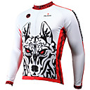 cheap Cycling Jersey & Shorts / Pants Sets-ILPALADINO Men's Long Sleeve Cycling Jersey White Bike Jersey Top Breathable Quick Dry Ultraviolet Resistant Sports Winter Polyester 100% Polyester Terylene Mountain Bike MTB Road Bike Cycling