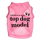baratos Roupas para Cães-Gato Cachorro Camiseta Roupas para Cães Carta e Número Rosa Azul Terylene Ocasiões Especiais Para animais de estimação Fantasias