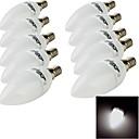 baratos Lâmpadas de LED-E14 Luzes de LED em Vela 10 leds SMD 2835 Decorativa Branco Quente Branco Frio 200lm 3000/6000K AC 220-240V