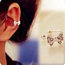 ieftine Inele de Ureche-Pentru femei Cătușe pentru urechi - Diamante Artificiale Nod Funda Argintiu Pentru Zilnic