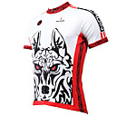 cheap Running Shirts, Pants & Shorts-ILPALADINO Men's Short Sleeve Cycling Jersey - White Animal Wolf Bike Jersey Top, Breathable Quick Dry Ultraviolet Resistant Polyester 100% Polyester Terylene / Stretchy
