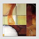 billige Abstrakte malerier-Hang malte oljemaleri Håndmalte - Abstrakt Europeisk Stil Moderne Lerret