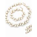 tanie Zestawy biżuterii-Biały Biżuteria Ustaw - Perła, Imitacja diamentu Dainty Zawierać Zestaw Pierścieni Perłowobiały Na Ślub Impreza Zaręczynowy