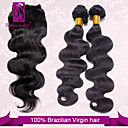 cheap One Pack Hair-Brazilian Hair Body Wave / Classic Virgin Human Hair Hair Weft with Closure Human Hair Weaves Human Hair Extensions