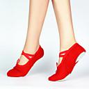 baratos Sapatilhas de Balé-Mulheres Sapatilhas de Balé Lona Sapatilha Sem Salto Personalizável Sapatos de Dança Preto / Vermelho / Rosa / Espetáculo