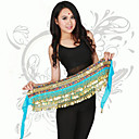 cheap Dance Accessories-Belly Dance Hip Scarves Training / Performance Polyester Coin Hip Scarf