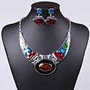 cheap Jewelry Sets-Women's Crystal Jewelry Set - Crystal, Cubic Zirconia Unique Design, Vintage, Party Include Drop Earrings / Pendant Necklace Green / Blue / Rainbow For Party / Special Occasion / Daily