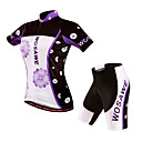 cheap Cycling Jersey & Shorts / Pants Sets-WOSAWE Women's Short Sleeves Cycling Jersey with Shorts - Purple Floral / Botanical Bike Shorts Padded Shorts / Chamois Jersey Clothing