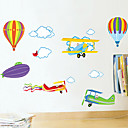 cheap Wall Stickers-Animals Romance Fashion Cartoon Wall Stickers Plane Wall Stickers Decorative Wall Stickers, PVC Home Decoration Wall Decal Wall
