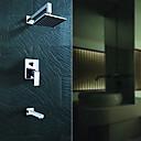 preiswerte Wand-Sticker-Badewannenarmaturen - Moderne Chrom Badewanne & Dusche Keramisches Ventil