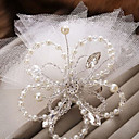 cheap Party Headpieces-Imitation Pearl Flowers / Birdcage Veils 1 Wedding / Special Occasion Headpiece