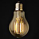 billige Lommelygter-3stk 6 W 2800-3200 lm E26 / E27 LED-globepærer A60(A19) 6 LED Perler COB Dæmpbar Varm hvid 220-240 V / 110-130 V / 3 stk. / RoHs