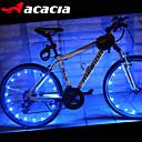 billiga Cykellyktor-Cykellyktor / Blinkande ventil / hjul lampor LED - Cykelsport Färgskiftande Cellbatterier 400 lm USB / Batteri Cykling - Acacia