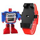 baratos Relógios da Moda-SKMEI Relogio digital Calendário / LCD Borracha Banda Desenho / Fashion Azul / Vermelho / Cinza / Dois anos / Maxell626 + 2025