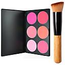 baratos Blush-6 cores Pós Corar Secos / Combinação / Oleoso Rosto Maquiagem Cosmético