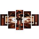 preiswerte Spitzenkünstler Ölgemälde-Handgemalte Abstrakt jede Form Segeltuch Hang-Ölgemälde Haus Dekoration Fünf Panele