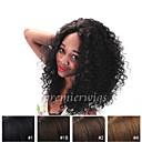 billige Blondeparykker med menneskehår-Ekte hår Blonde Forside Parykk Krøllet Parykk 130% Hair Tetthet Naturlig hårlinje Afroamerikansk parykk 100 % håndknyttet Dame Kort Medium Lengde Lang Blondeparykker med menneskehår Premierwigs