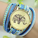 preiswerte Modische Uhren-Damen damas Armband-Uhr Quartz Imitation Diamant Leder Band Analog Charme Modisch Schwarz / Weiß / Blau - Rot Blau Rosa Ein Jahr Batterielebensdauer / Tianqiu 377