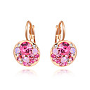 cheap Rings-Women's Cubic Zirconia Drop Earrings - Zircon, Gold Plated Fashion Fuchsia / Blue For Wedding / Party / Daily