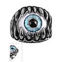 cheap Men's Rings-Men's Ring - Stainless Steel Evil Eye Punk Jewelry Black For Casual 8 / 9 / 10 / 11
