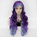 cheap Synthetic Capless Wigs-Synthetic Wig / Cosplay & Costume Wigs Wavy Synthetic Hair Purple Wig Women's Very Long Capless