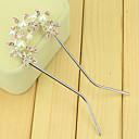 hesapli Saç Aksesuarları-kore güney saç üç küçük çiçek çift iğne takılı tarak twist gelin u şeklindeki klips firkete taraklar