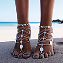 cheap Anklet-Layered / Tassel Anklet Barefoot Sandals - Tassel, Vintage, Party Gold / Silver For Party / Beach / Women's