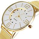 hesapli Moda Saatler-Kadın's Bilek Saati Gündelik Saatler Alaşım Bant Günlük / Zarif / Moda Altın Rengi