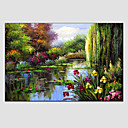cheap Landscape Paintings-Oil Painting Hand Painted - Landscape European Style Modern Canvas