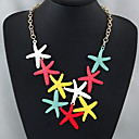 رخيصةأون مجموعات المجوهرات-للمرأة القلائد بيان - نجم البحر أوروبي, موضة لون الشاشة قلادة مجوهرات من أجل